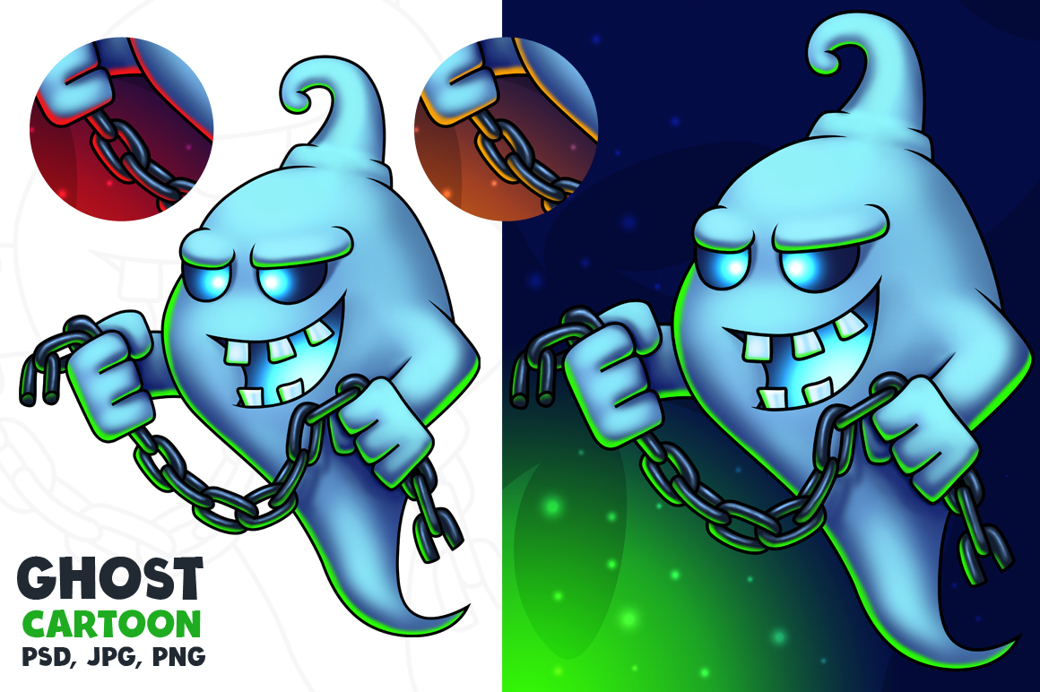 Ghost Cartoon Character - Digital Painting example image 1