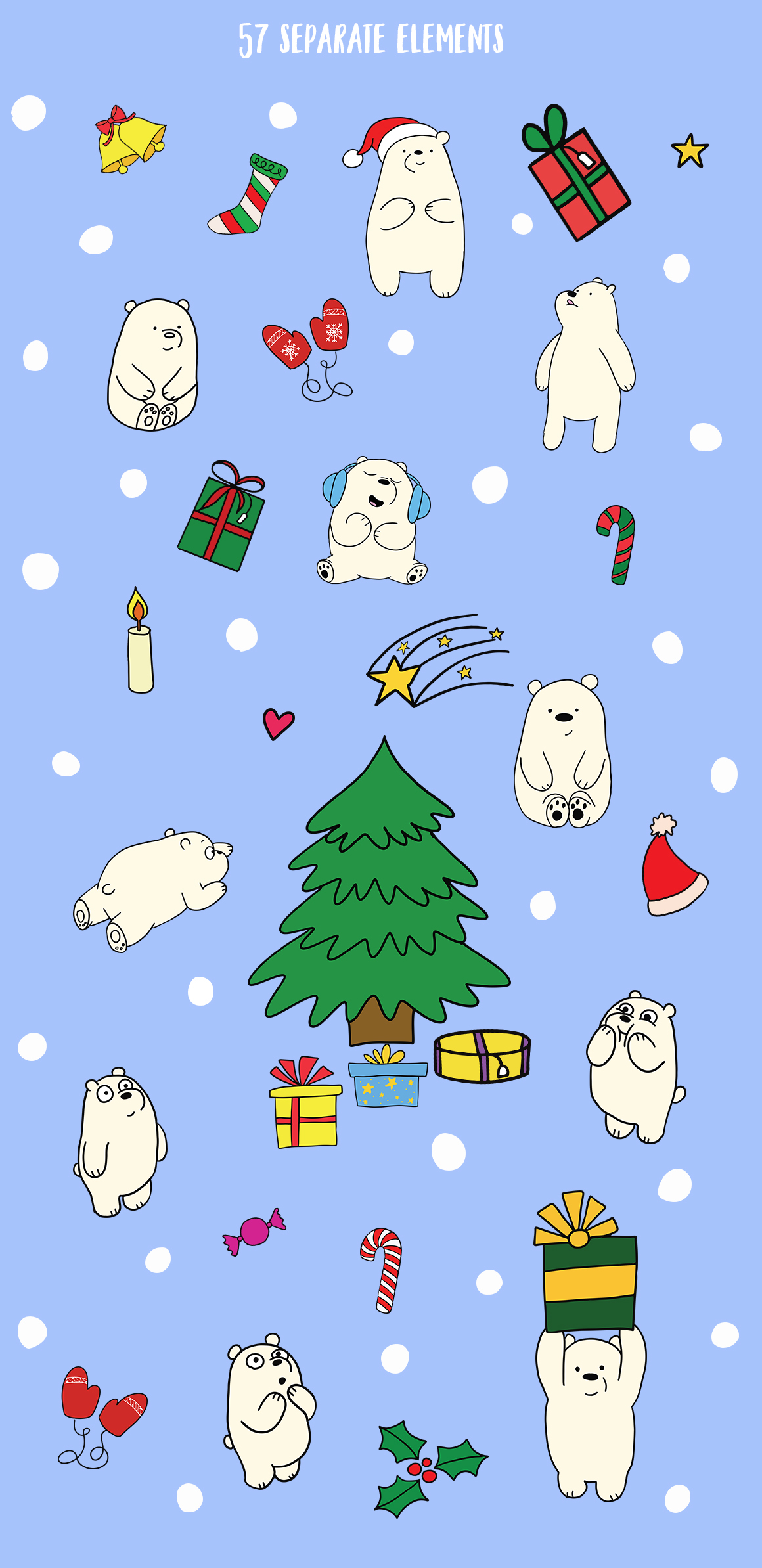Christmas bears and patterns example image 2