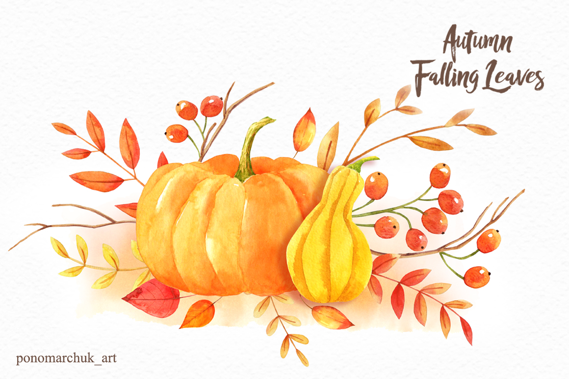 Autumn falling leaves example image 7