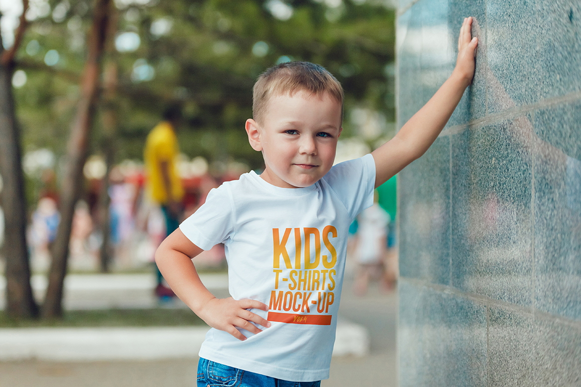 Kids T-Shirt Mock-Up Vol. 4 example image 10