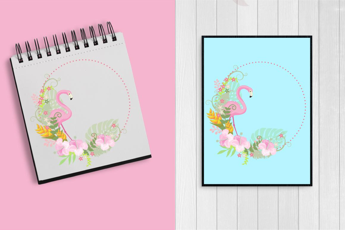 Flamingos clipart mega pack, graphics, illustrations AMB-1047 example image 4