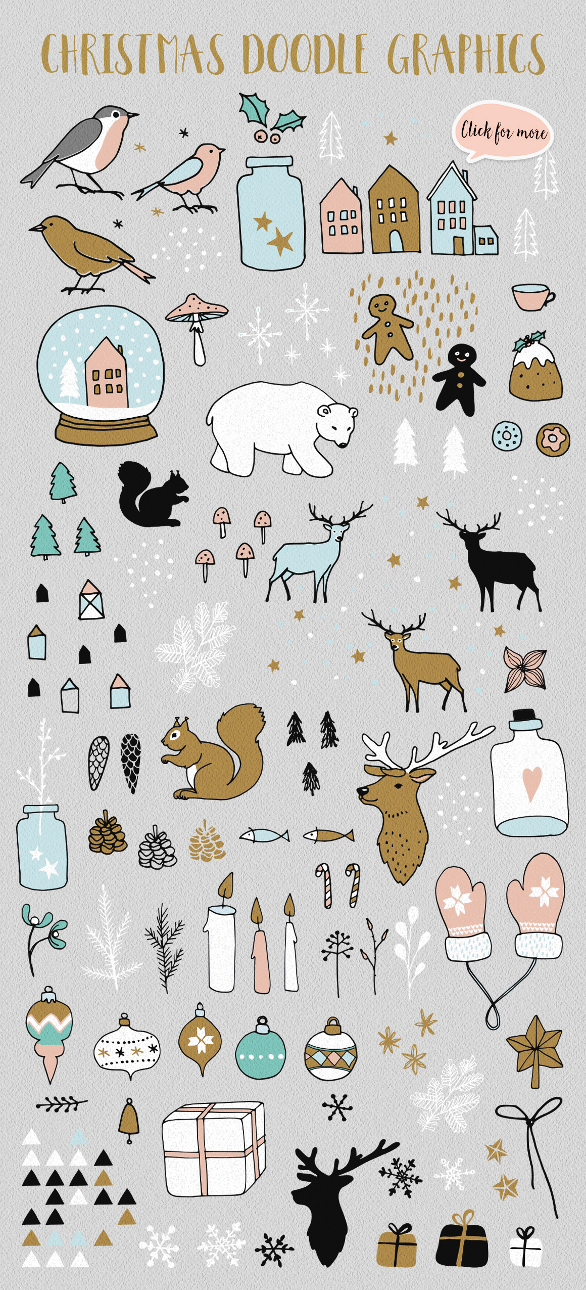 150+ Nordic Christmas set example image 6