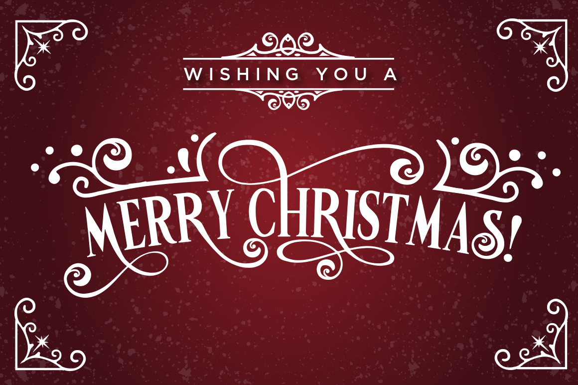 Vondey - Holiday font & ornaments example image 2