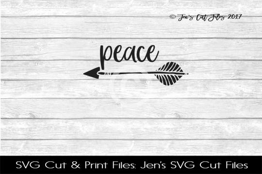 Peace SVG Cut File example image 1