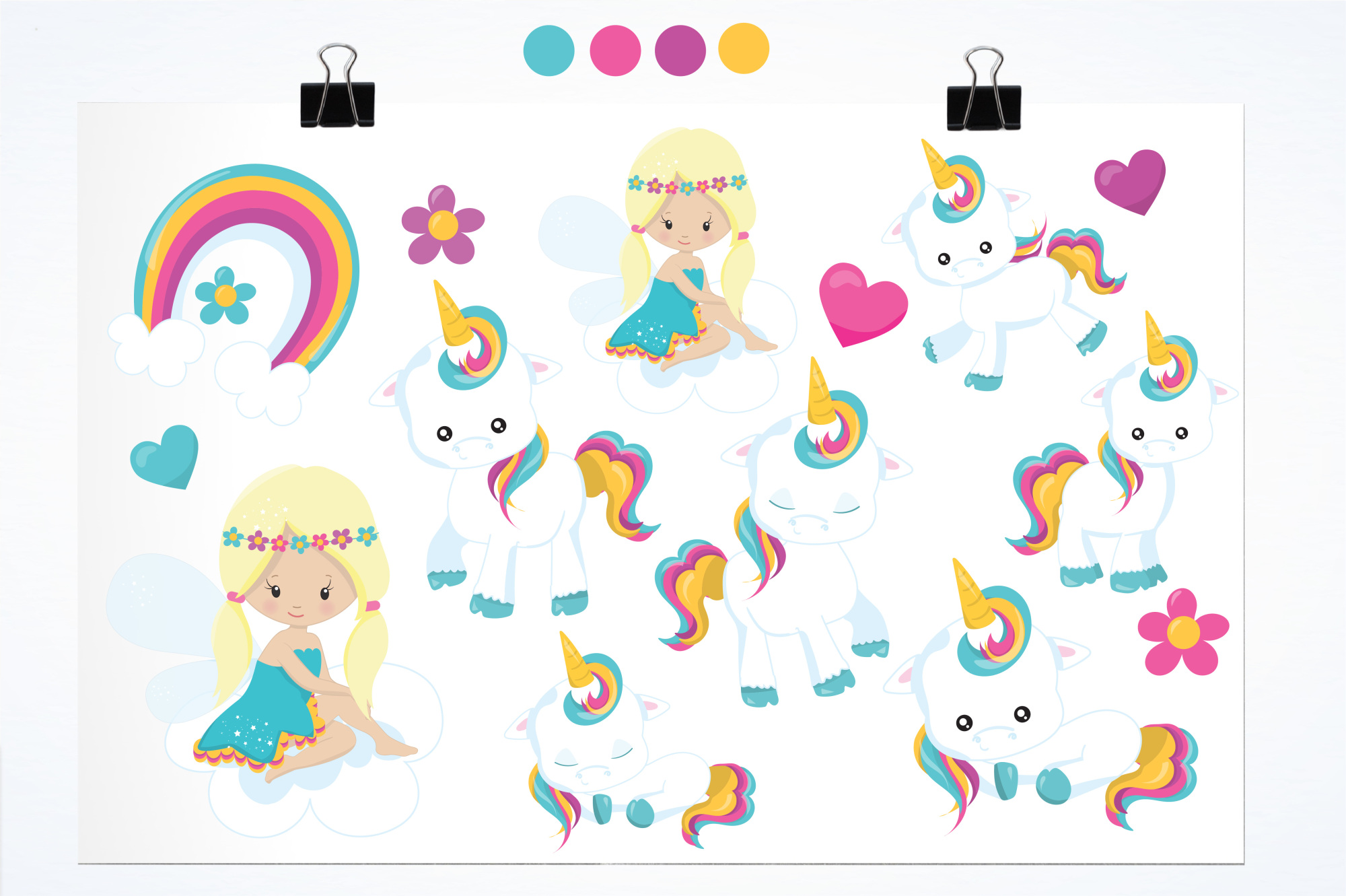 Baby Unicorn graphics and illustrations example image 2