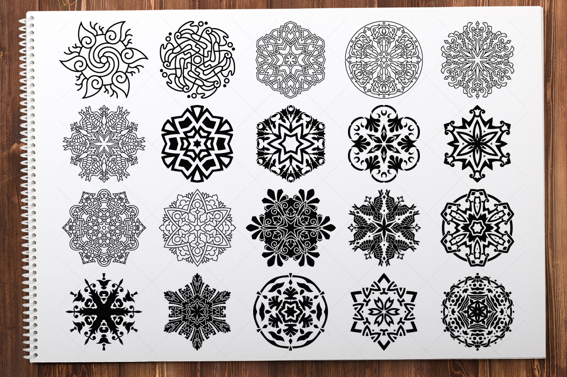 500 Vector Mandala Ornaments example image 18