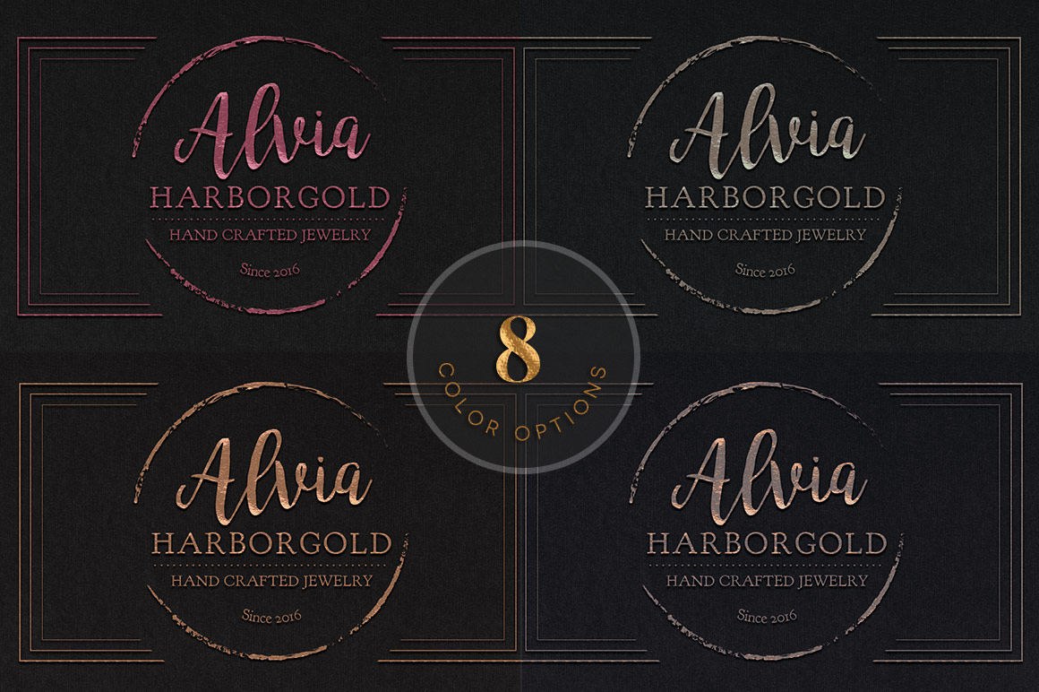 Jewelry Store Business Card Photoshop Template example image 8