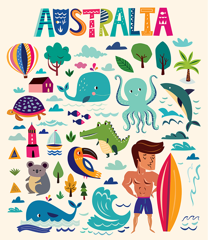 Australian Symbols By Molesko Studio Design Bundles