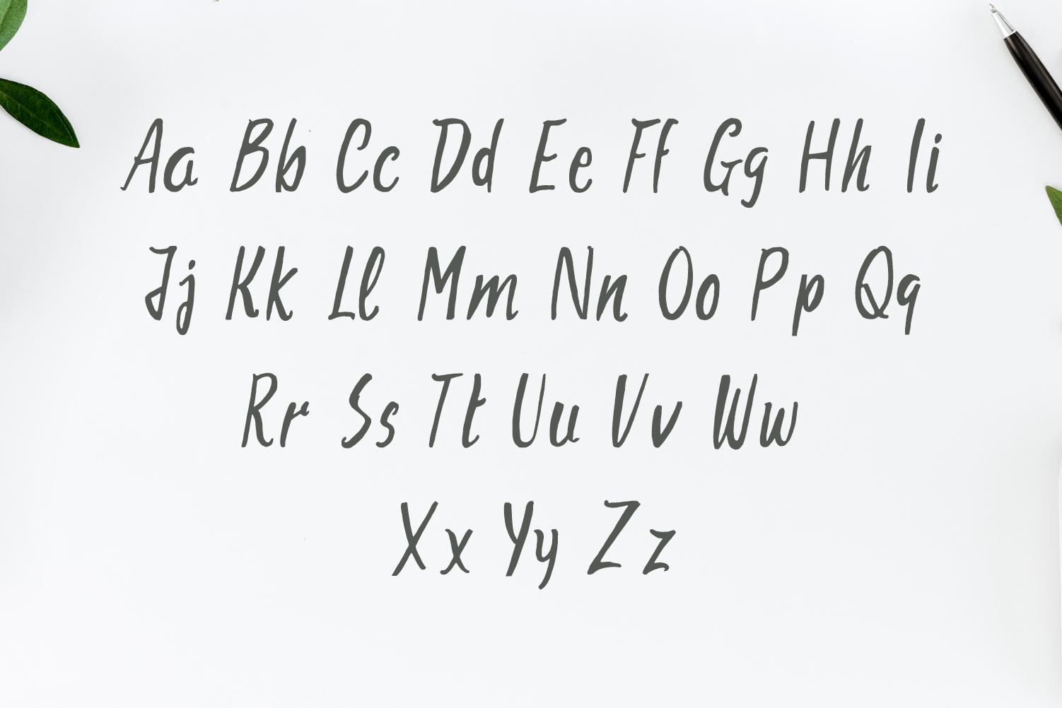 Aharon Handwritten Brush Font example image 2