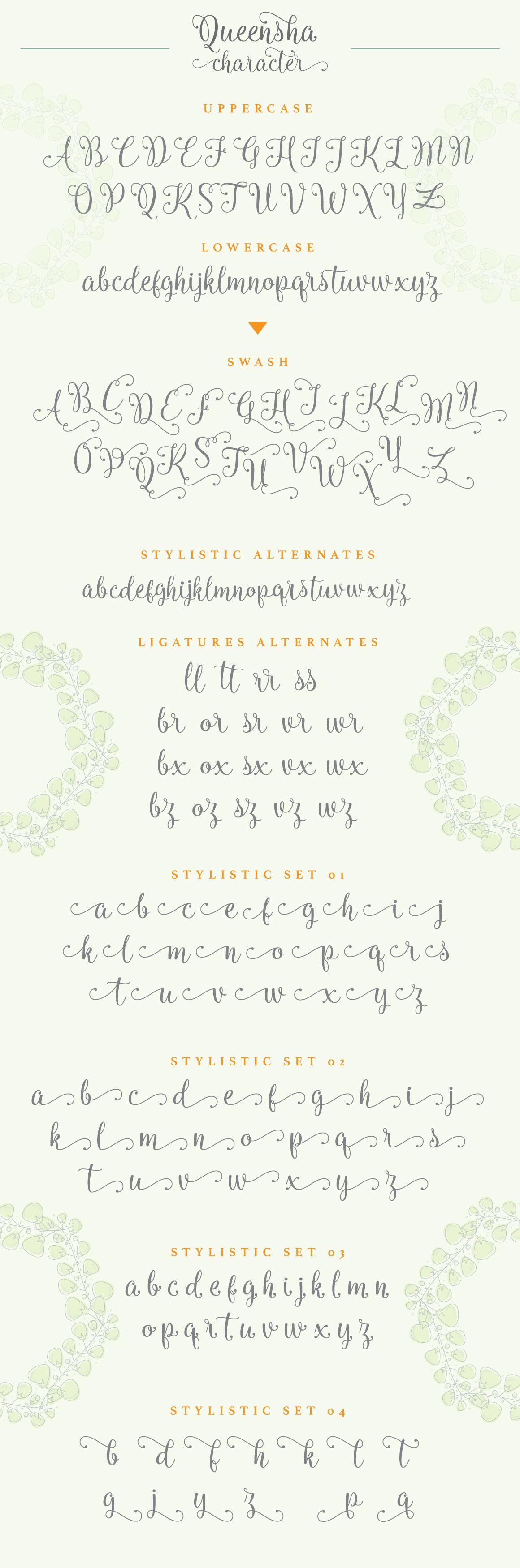 Queensha Typeface example image 8