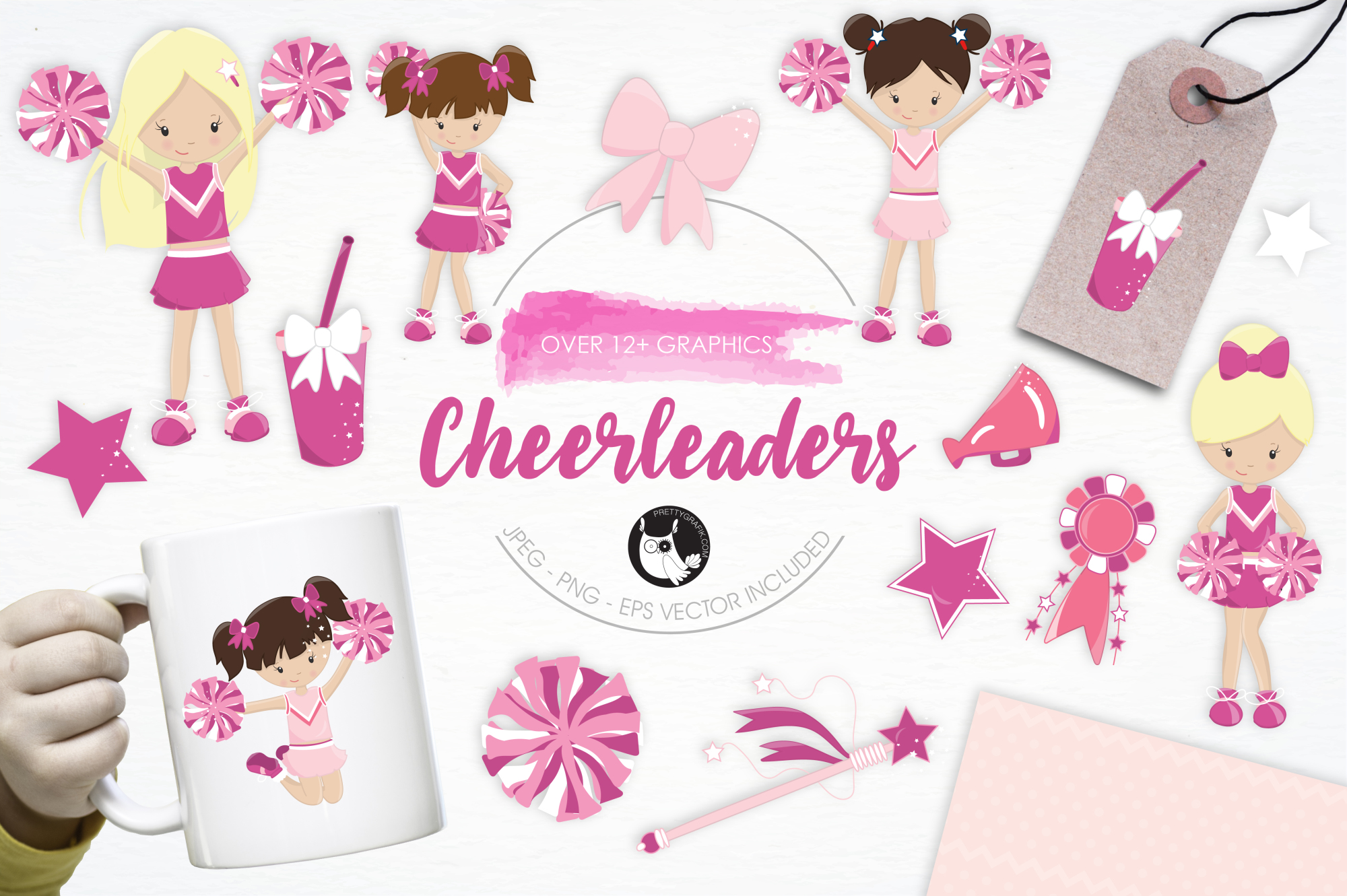 Cheerleaders graphics and illustrations example image 1