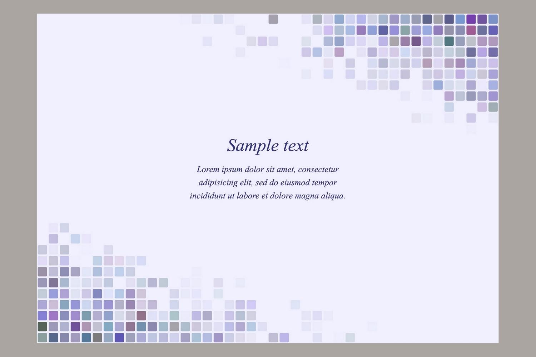 40 square mosaic page templates (AI, EPS, JPG 5000x5000) example image 3