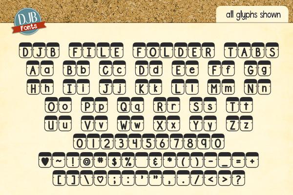 DJB File Folder Fonts example image 5