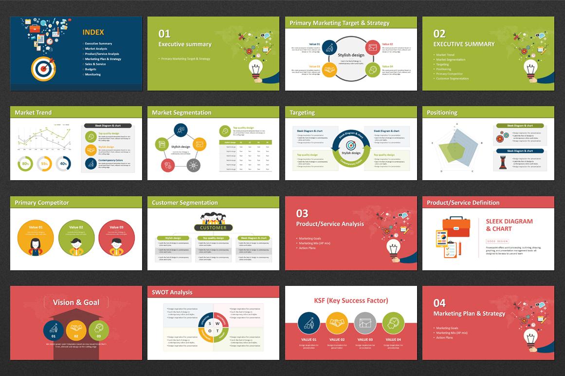 Digital Marketing Strategy Keynote Template Business Templates Screenshots Colorful Slide 01 Jpg
