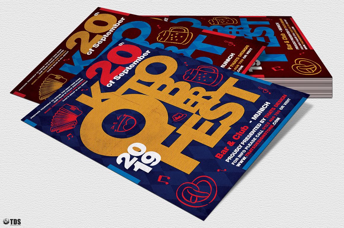 Oktoberfest flyer template V8 example image 4