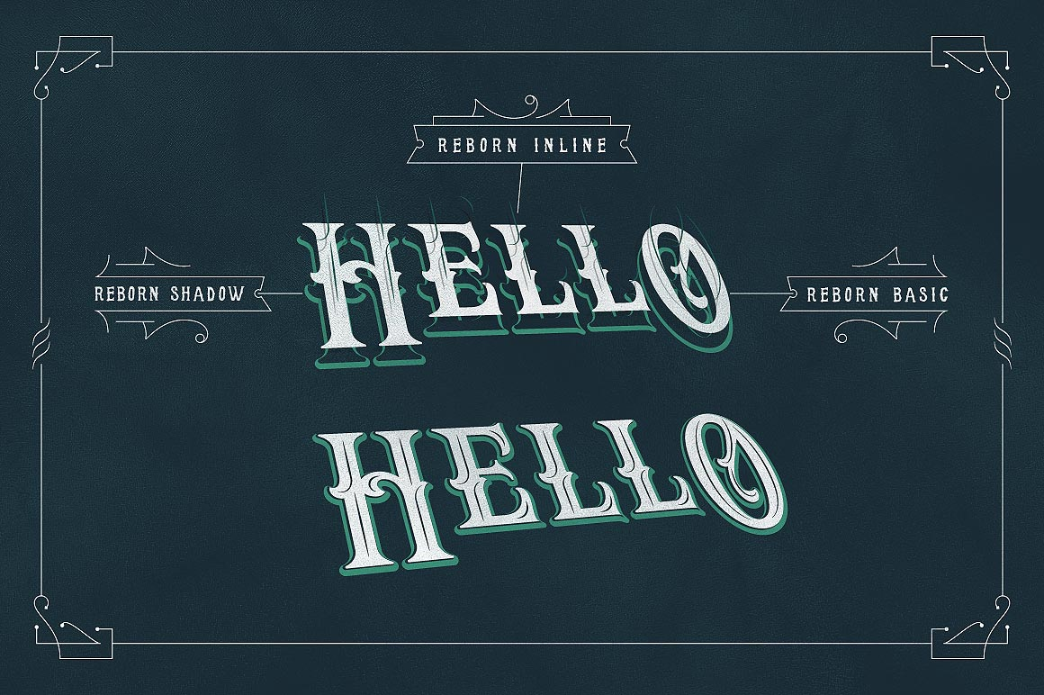Reborn Layered Typeface + Extras example image 4