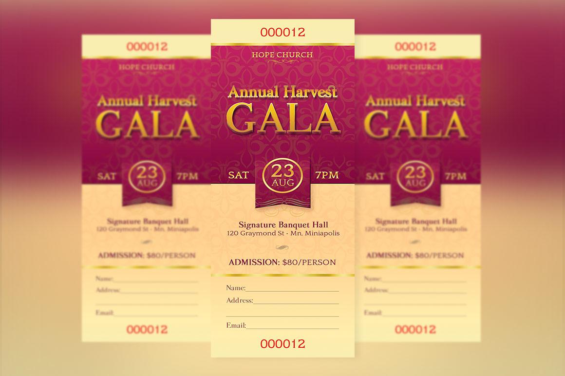Church Banquet Ticket Template by Godse | Design Bundles