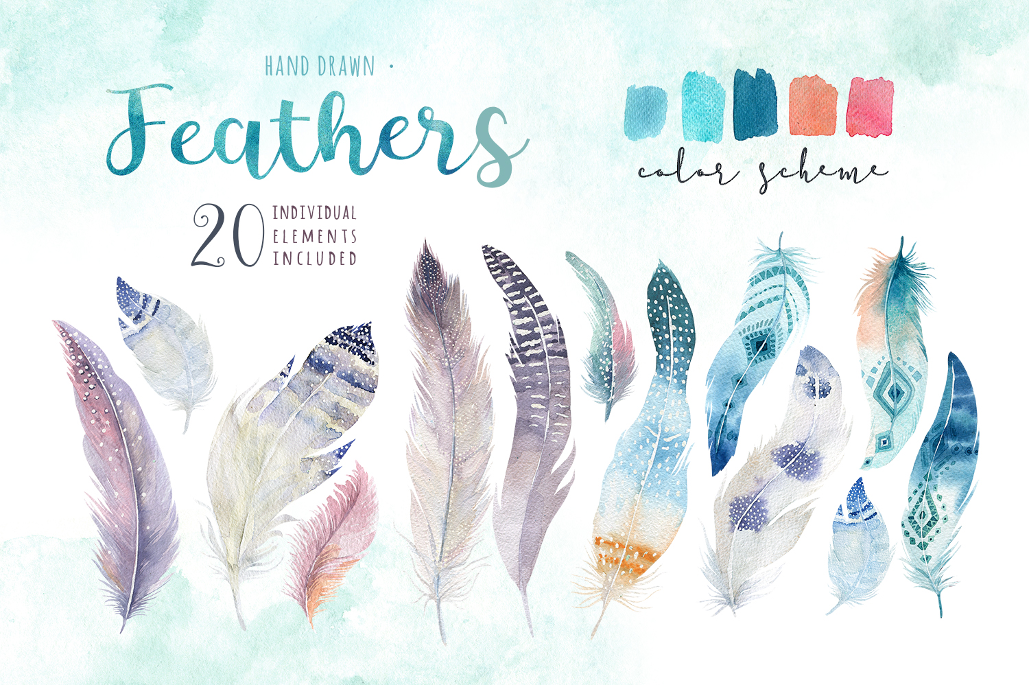 30% off Watercolor dreamcatcher III example image 4