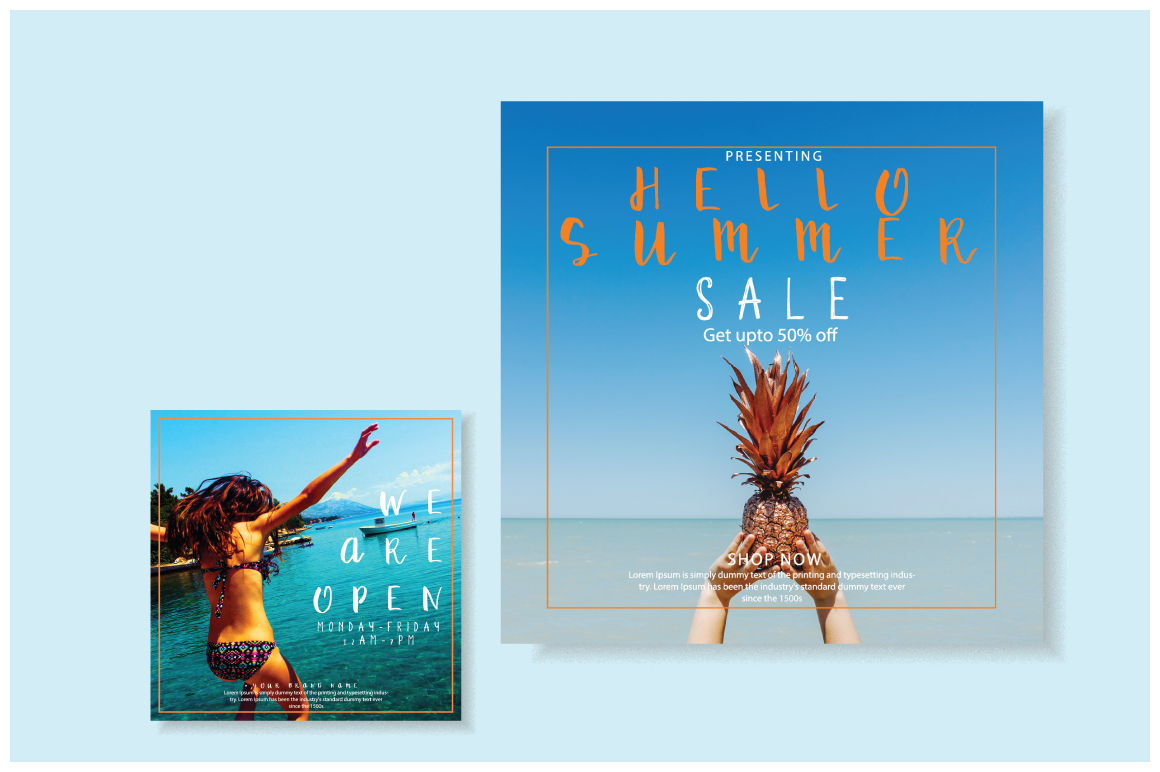 Summer sale | Mini social Pack example image 3