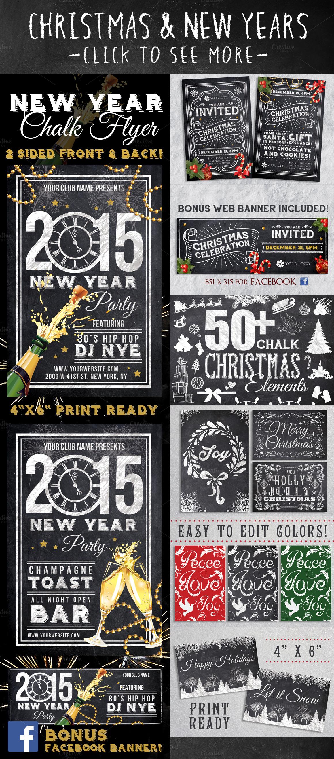 Mega Chalk Holiday Bundle (60% off) example image 2