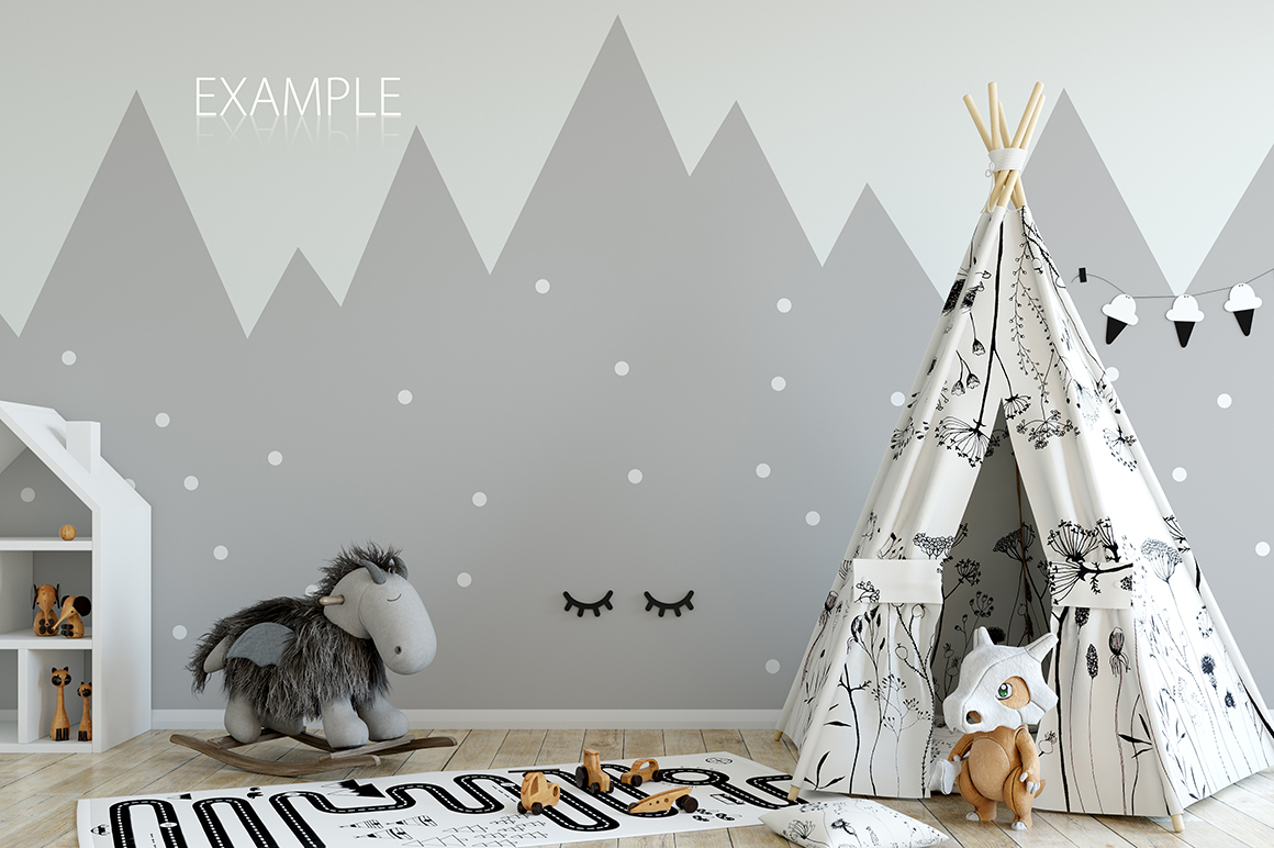 KIDS WALL & FRAMES Mockup Bundle - 2 example image 22