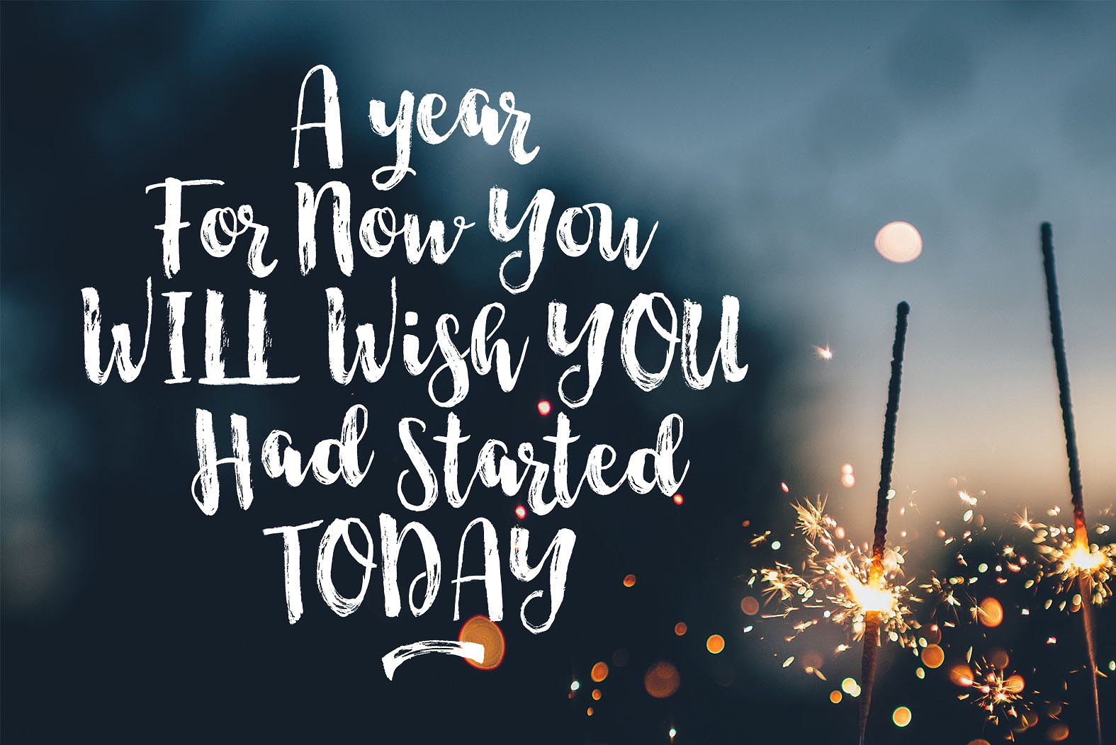 Start Today - Brush Font Duo example image 3