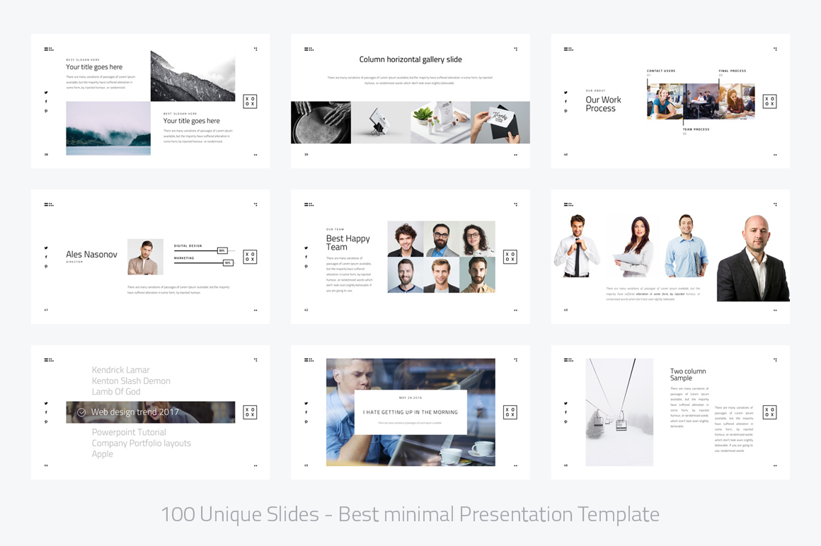 Xoxo minimal powerpoint template by dub design bundles xoxo minimal powerpoint template example image 6 toneelgroepblik Image collections