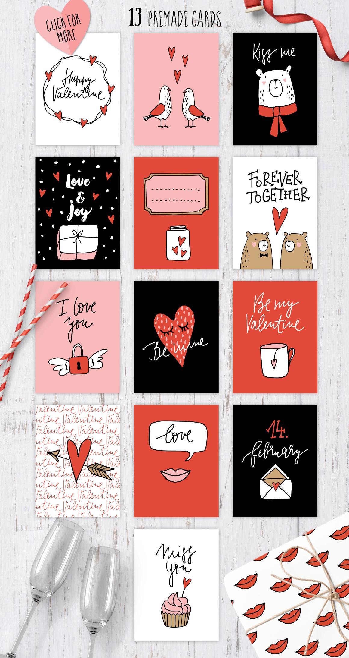 Happy Valentine graphic set example image 4