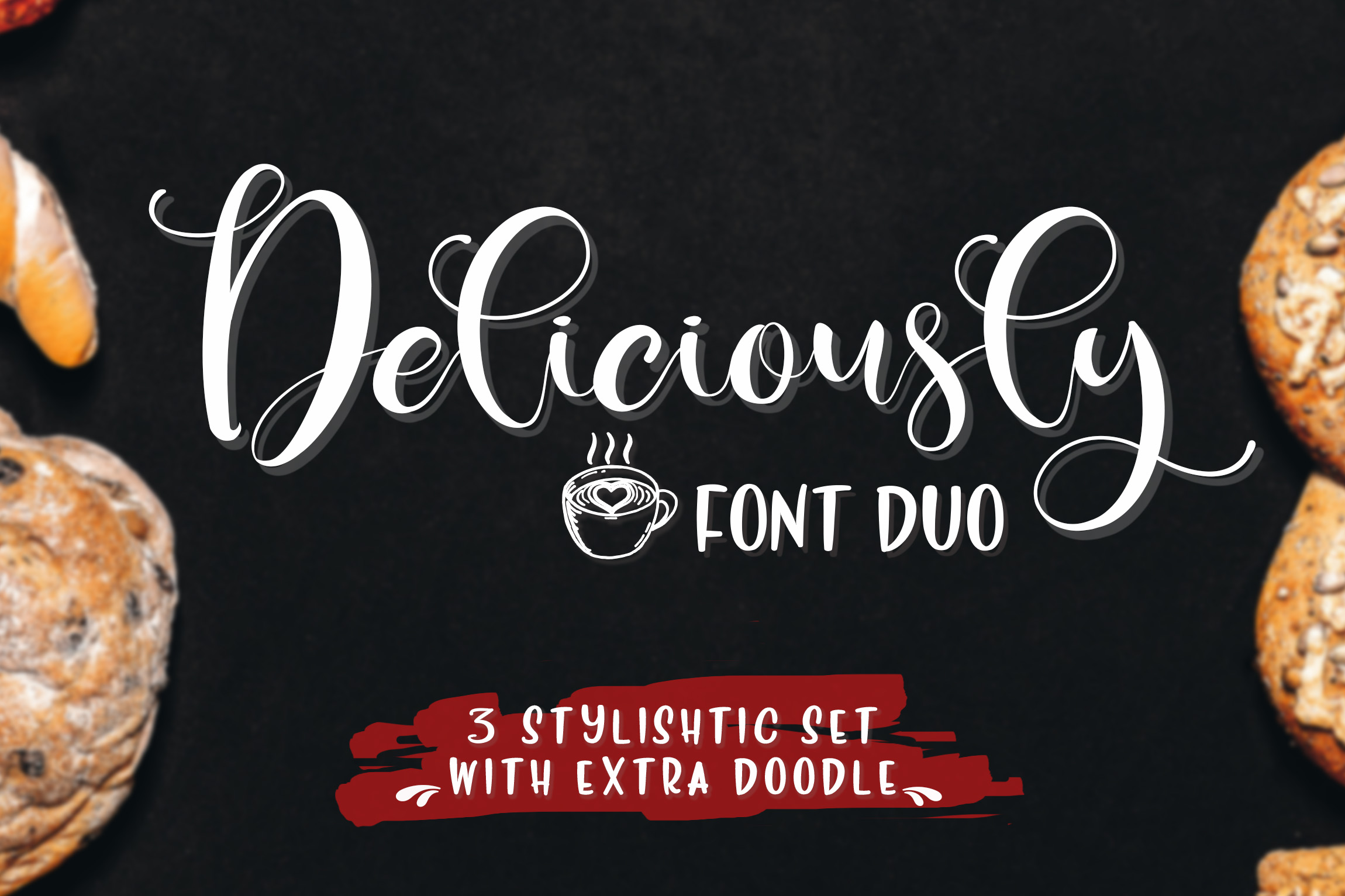Deliciously Font Duo + Extras example image 1