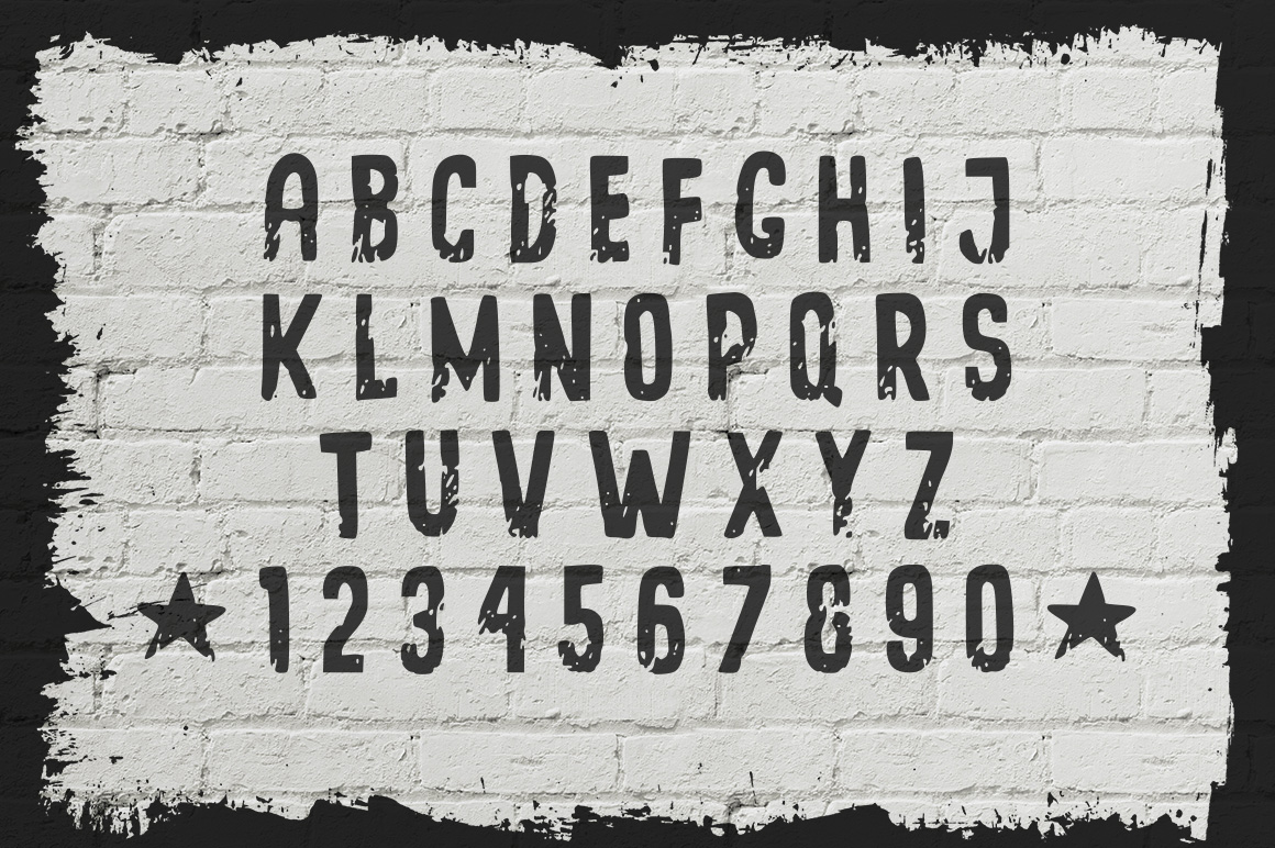 Grunge Lane Font example image 2