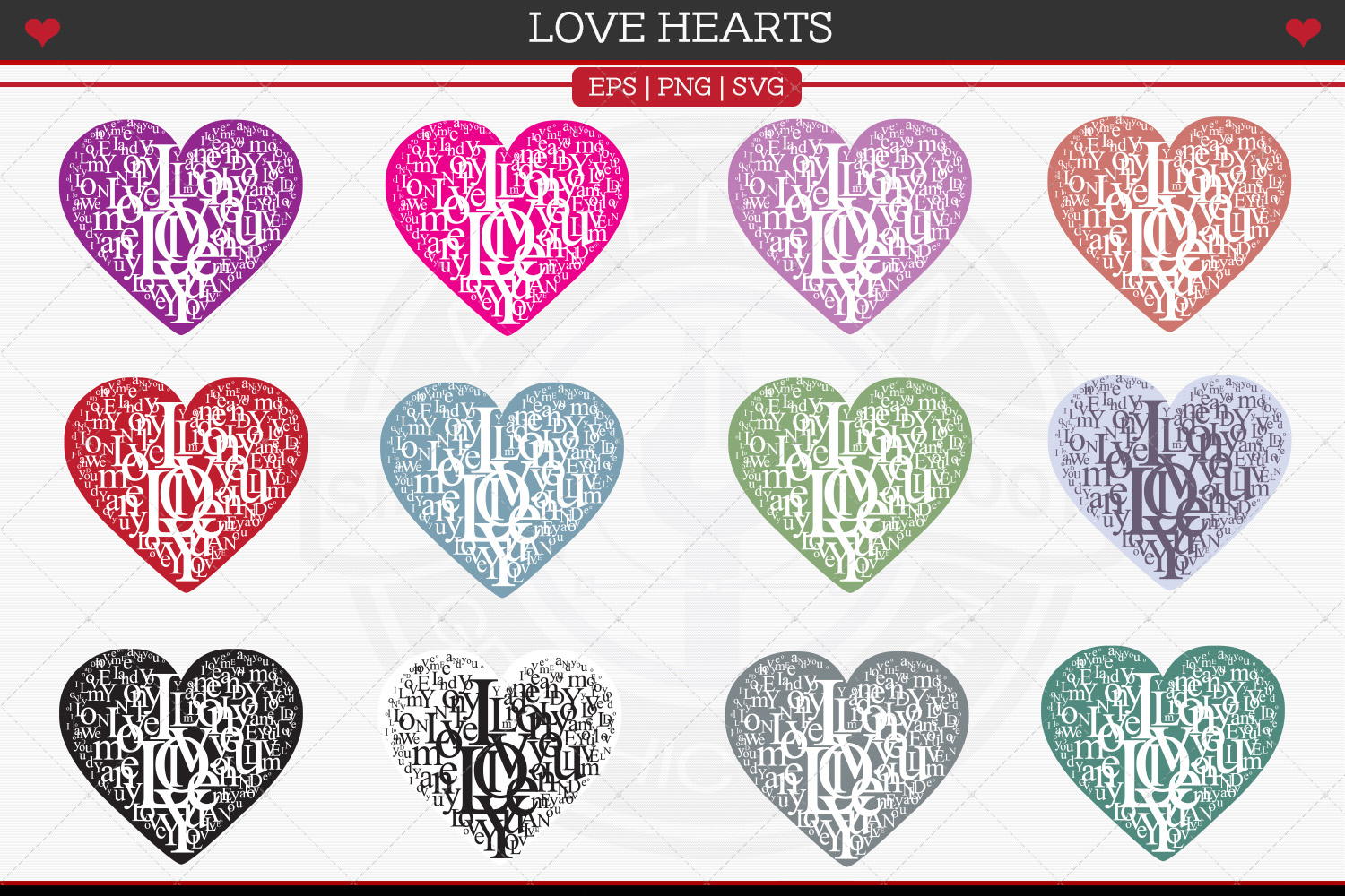 Love Hearts example image 3