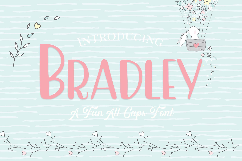 Bradley- A Fun Caps Font example image 1