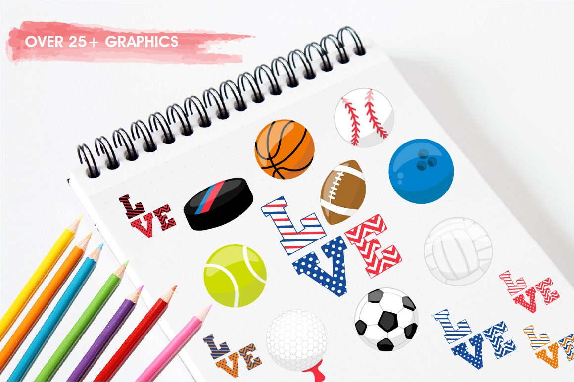 Sports love graphics and illustrations example image 3