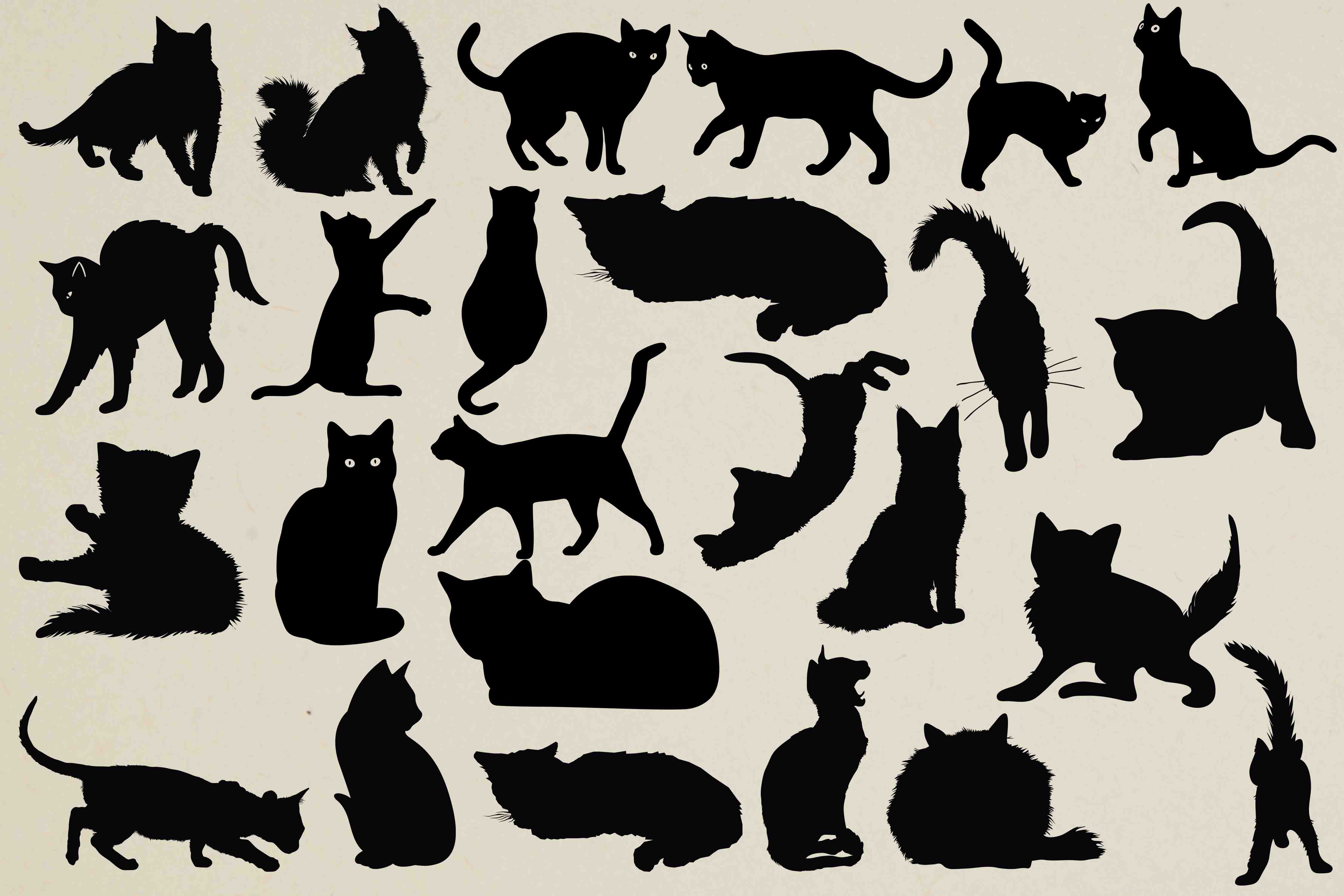 Cats Silhouettes example image 1