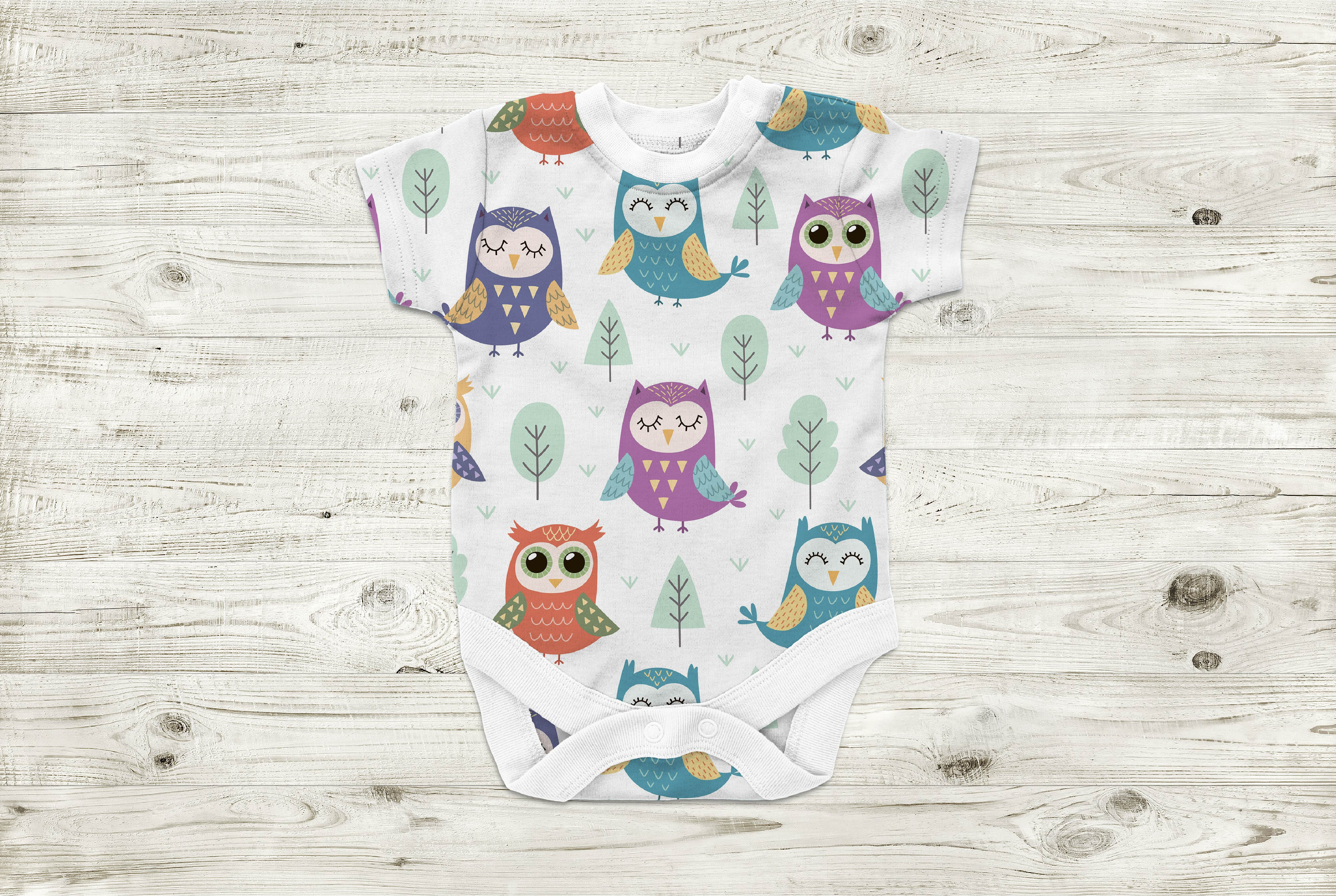 Owl Tales: seamless pattern & elements example image 4