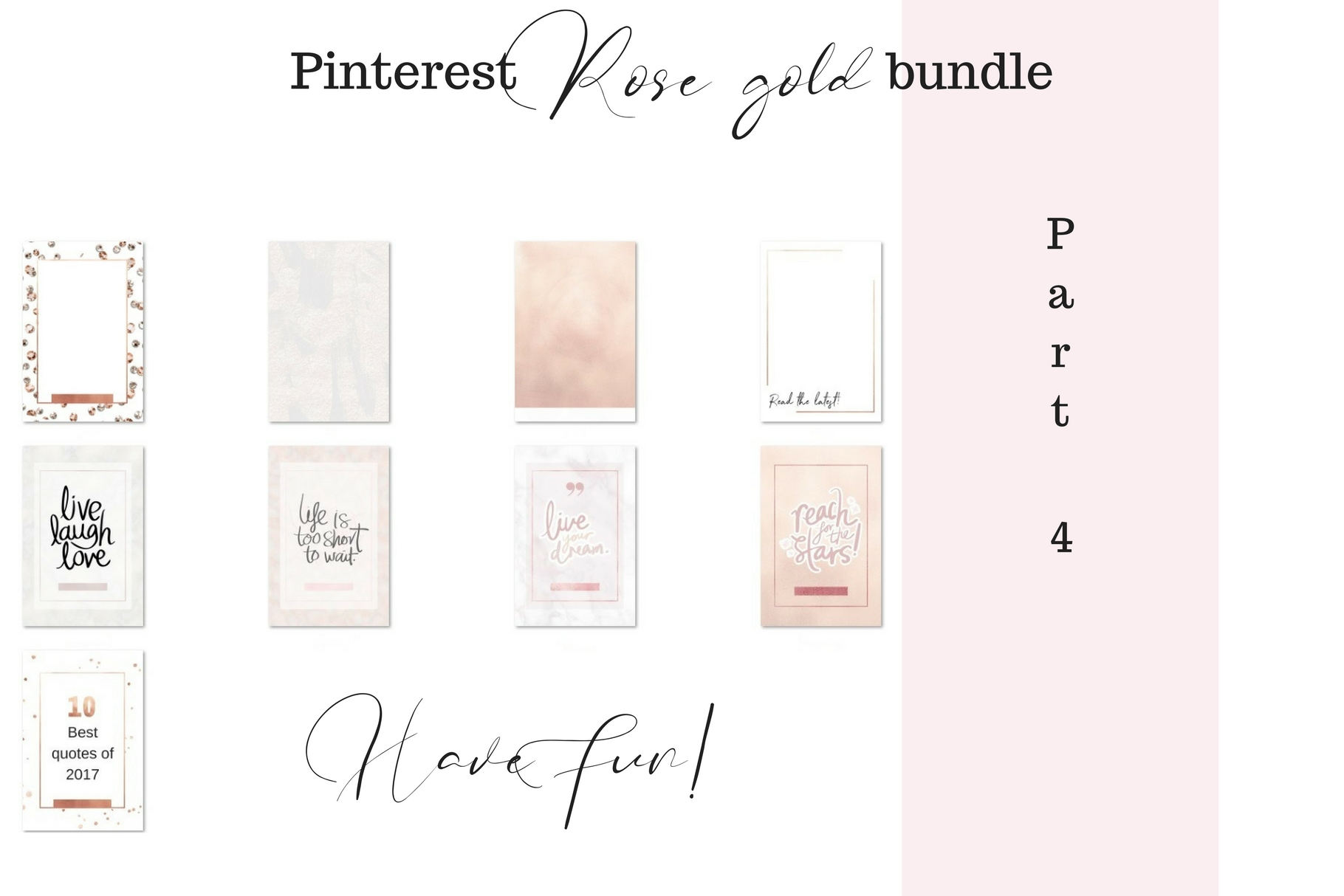 Pinterest rosé gold bundle example image 5