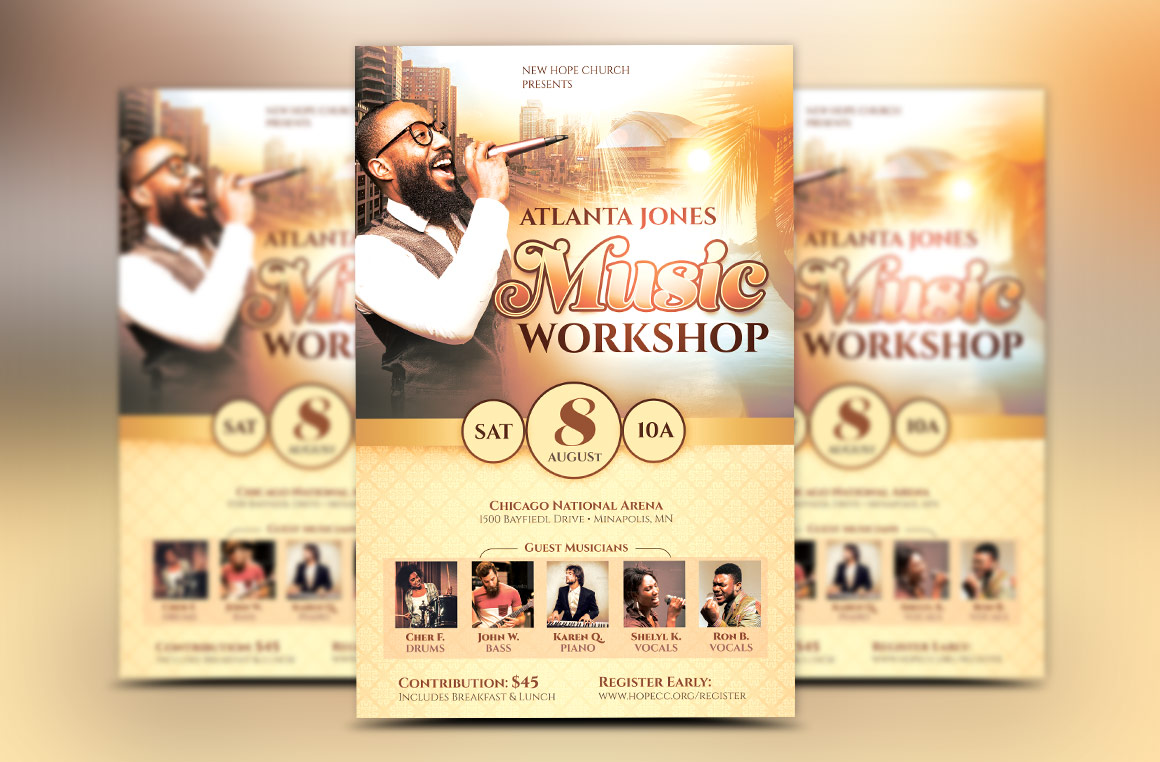 Church Music Workshop Flyer Template Example Image 1