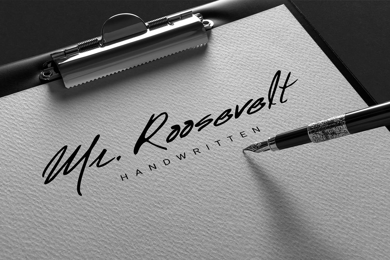 Mr. Roosevelt Handwritten example image 1
