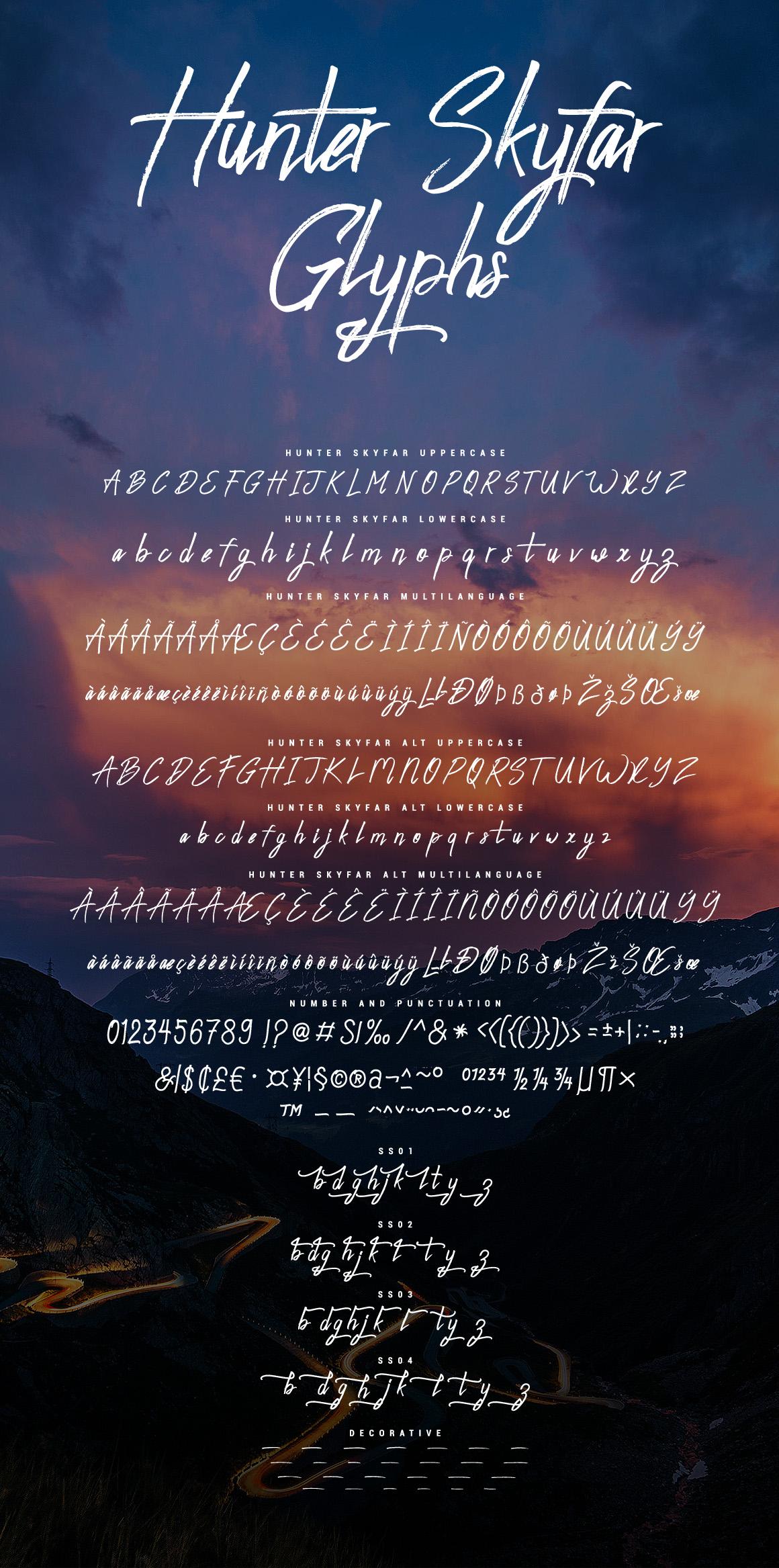 Hunter Skyfar - Dry Brush Script example image 12