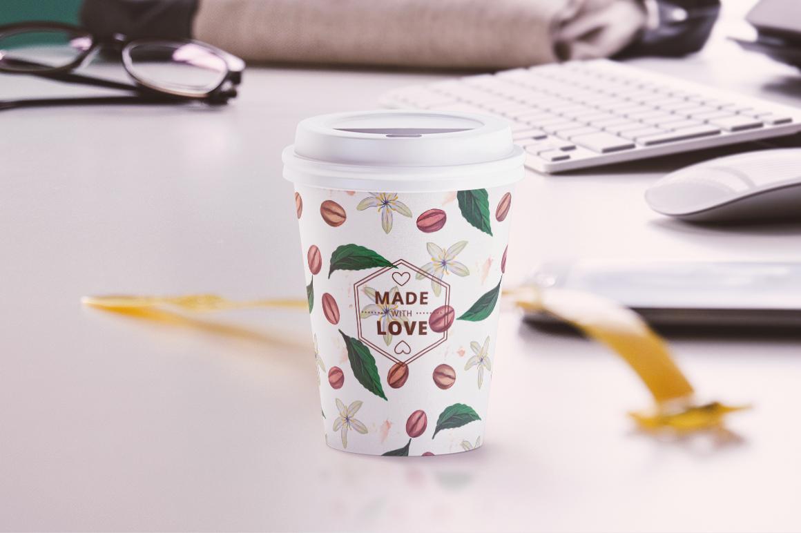 Coffee Cup Animated Mockups Bundle (Coffe mug mock up, cofee cup mockup, tea take away cup mock-up) example image 14