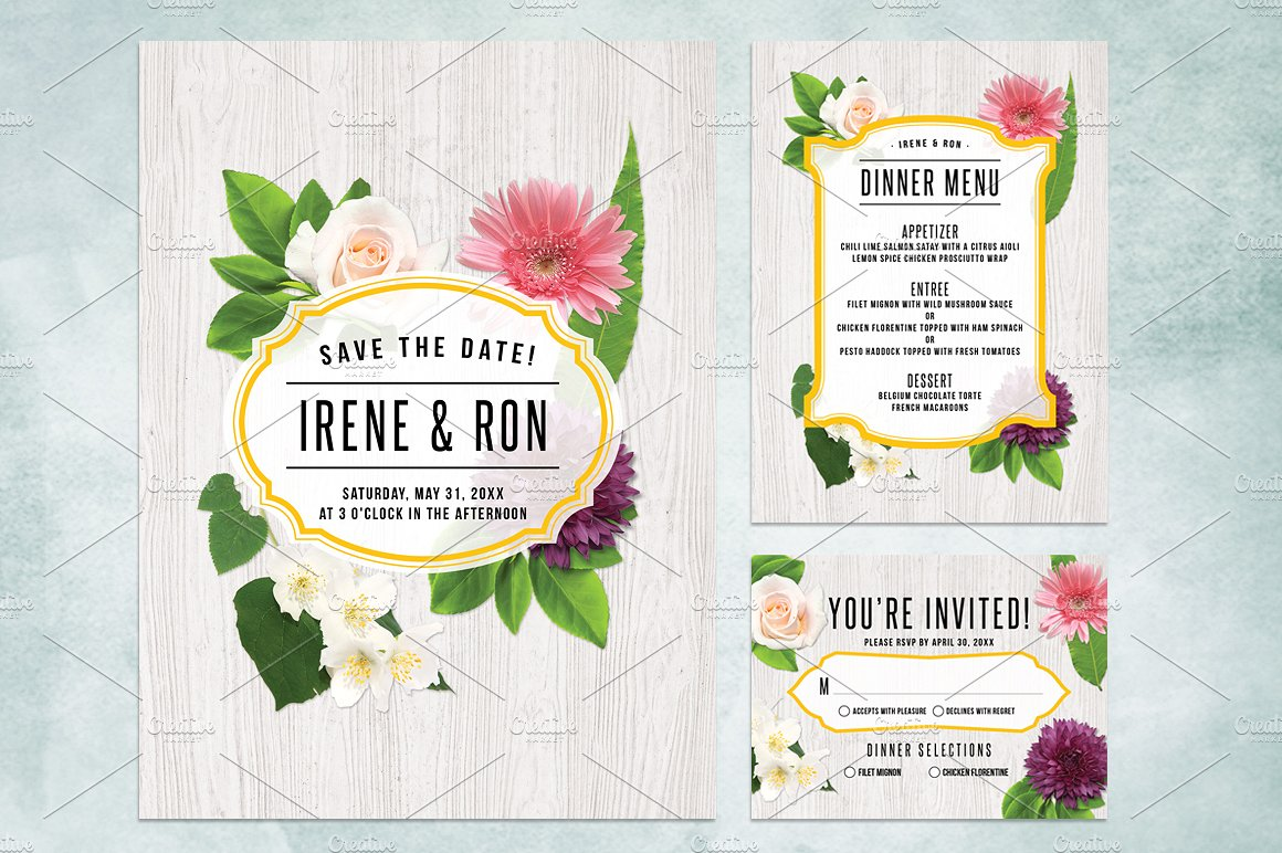 Massive Wedding Invite Bundle Flyer Save the Date Bridal Shower Party 60% Off example image 5