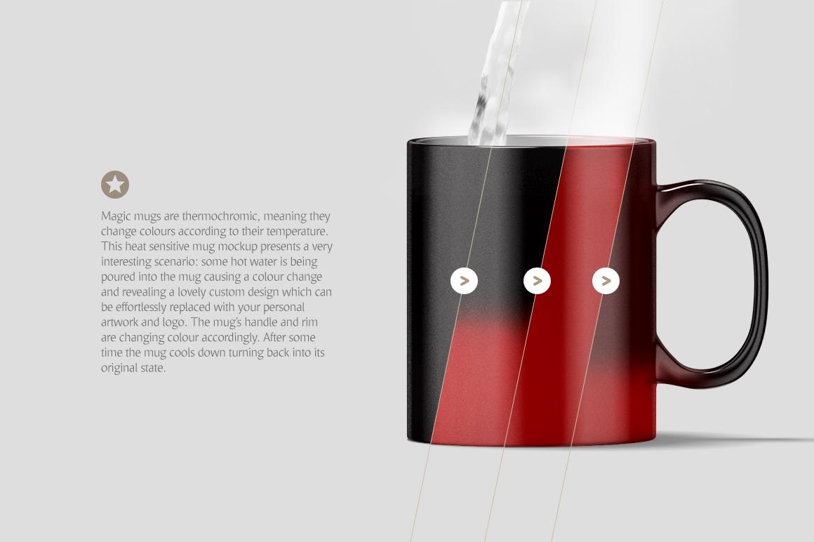 Magic Mug Animated Mock up (Color Changing Morphing Magical Mug Mockup) example image 3