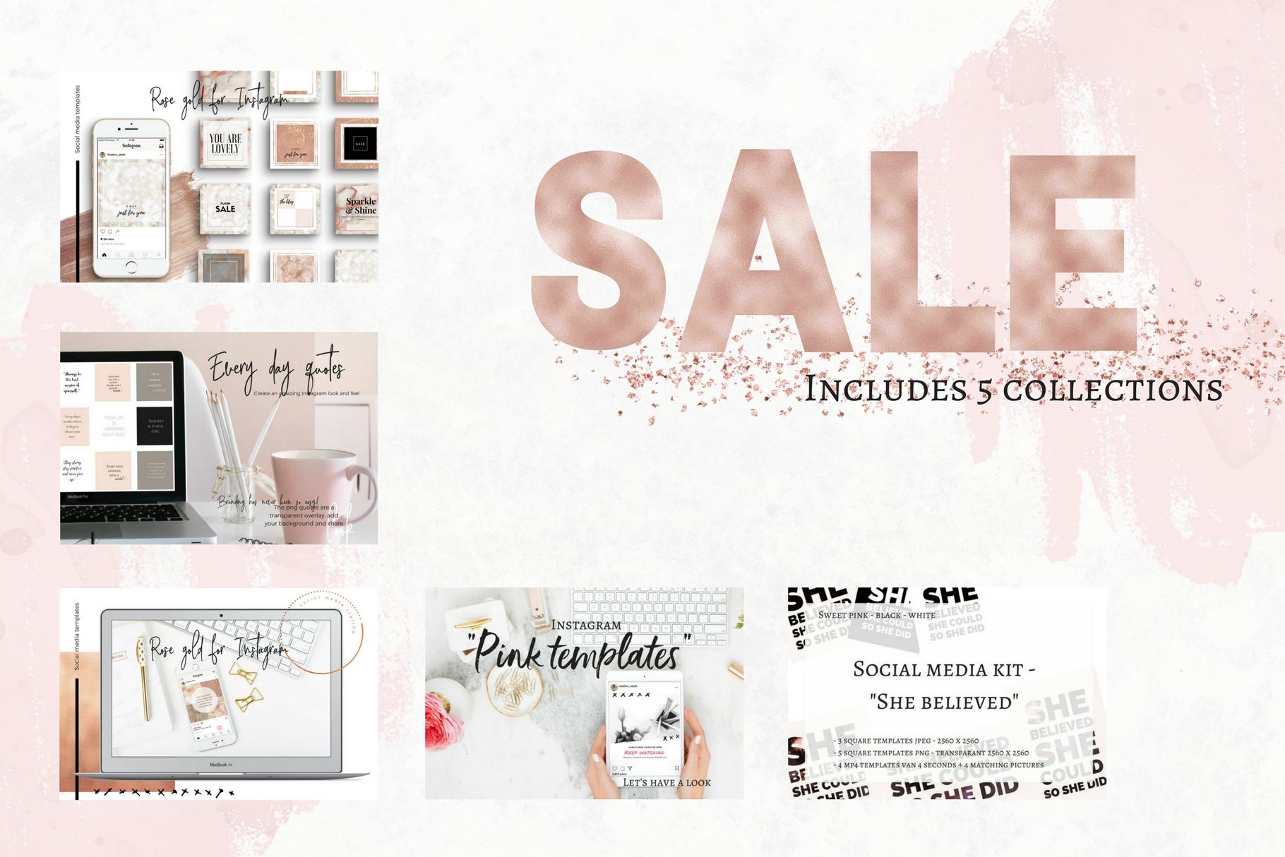 Sale - 5 social media bundles example image 1