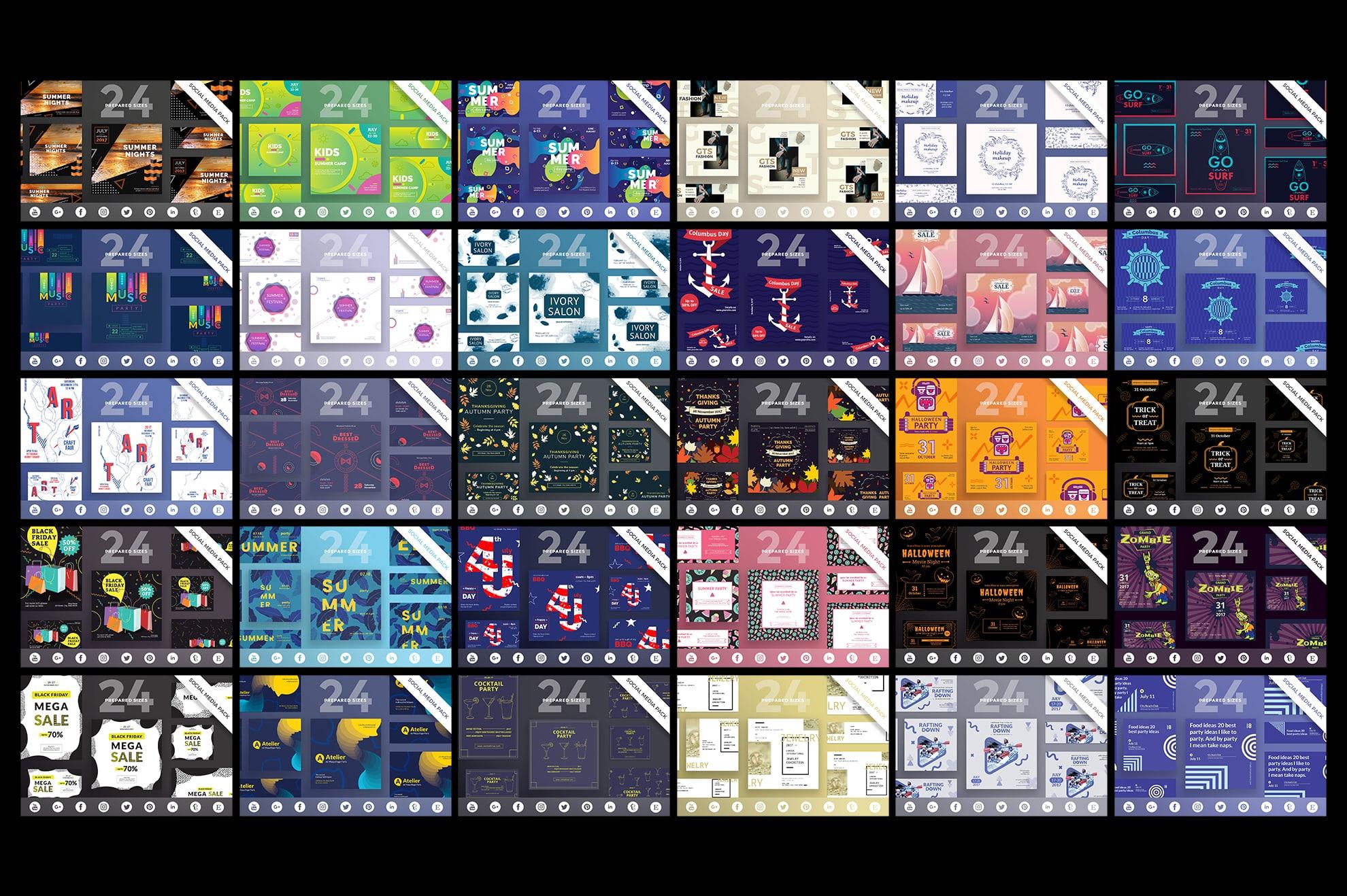 Social Media Cover & Post Design Templates Bundle SALE example image 7
