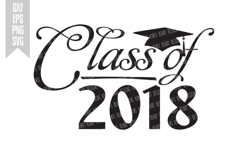 Graduation Class Of 2018 - Vector Clip