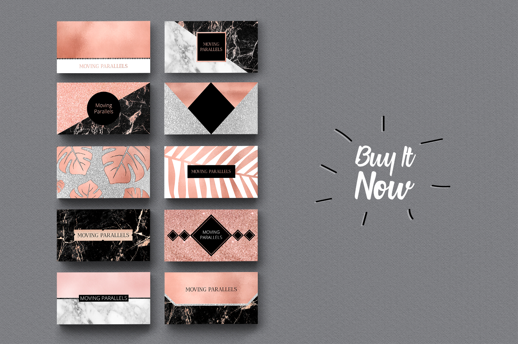 Rose Gold Marble Business Cards Bundle example image 8