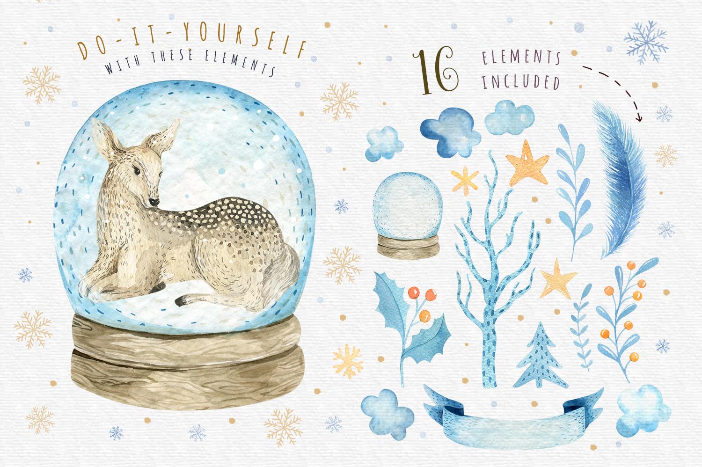 Watercolour baby deer example image 2