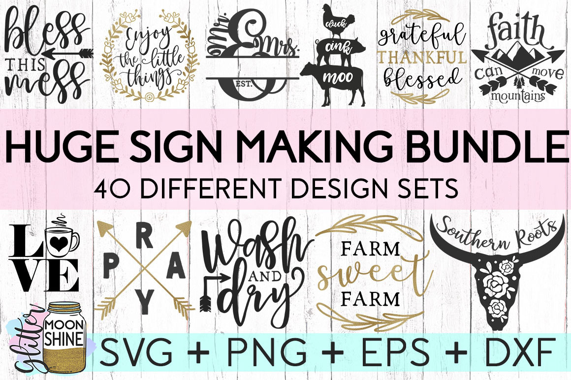 MEGA Bundle Over 700 SVG DXF PNG EPS Cutting Files example image 3