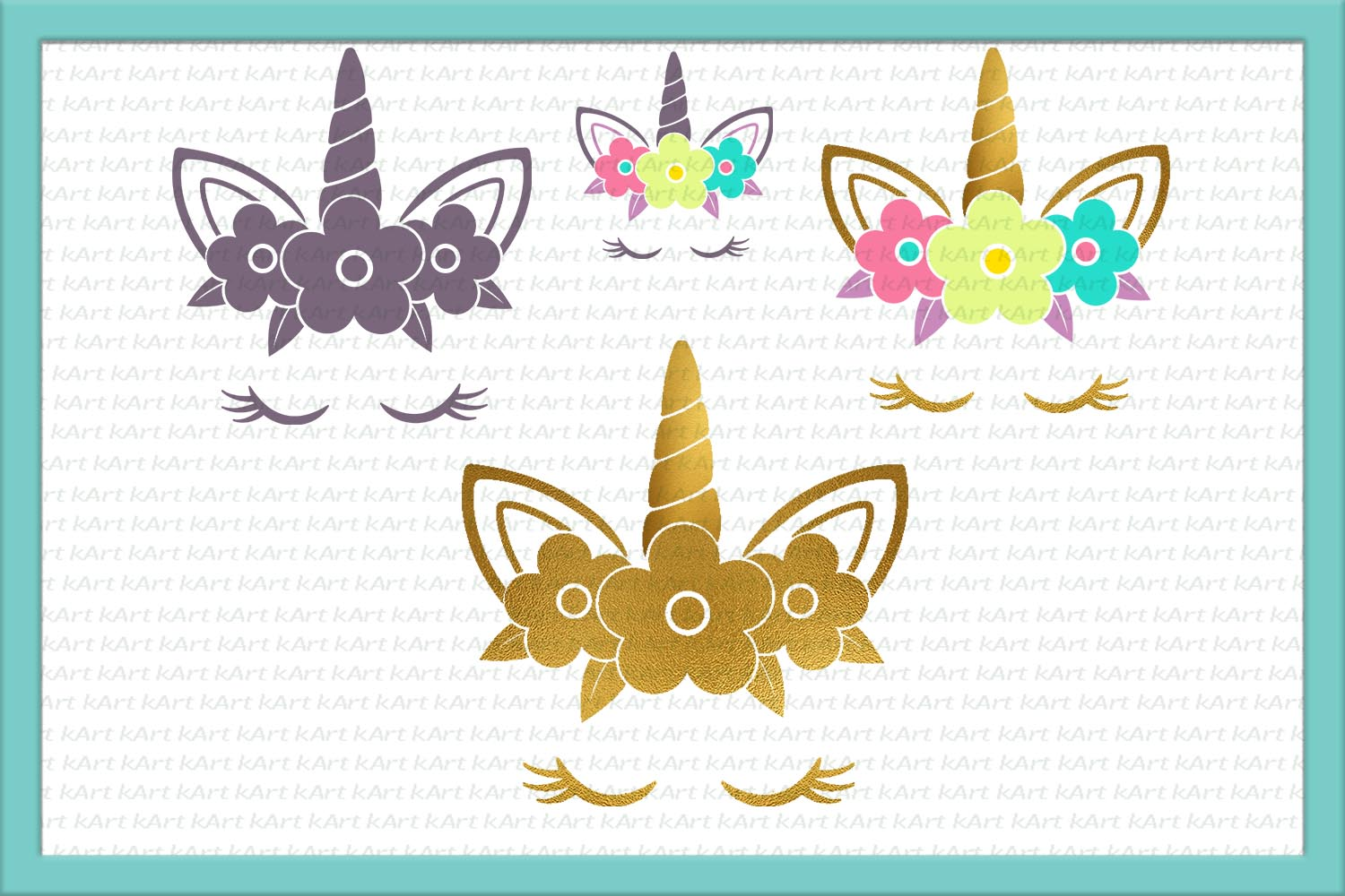 Unicorn head SVG/DXF/PNG/EPS/JPG/PDF example image 4