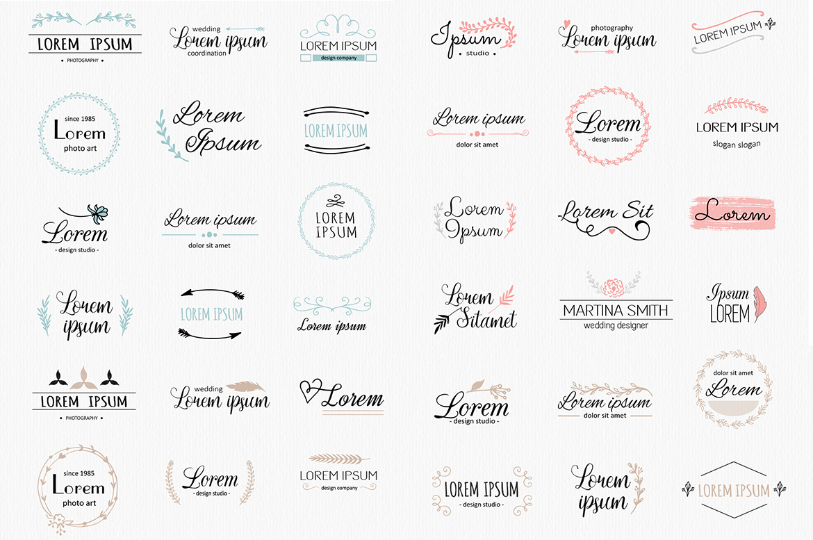 Vector logo templates pack. 36 logos example image 3